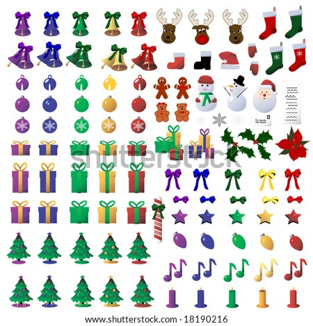 Vector 110 Christmas Icons  is original artwork.