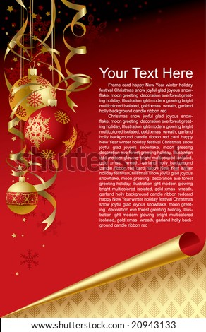 Vector Christmas & New-Year's greeting card - stock vector
