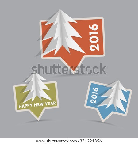 Vector christmas pointers - 2016 - happy new year  - stock vector