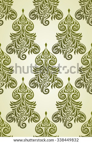 Vector Christmas Seamless Pattern with Fir Tree - stock vector