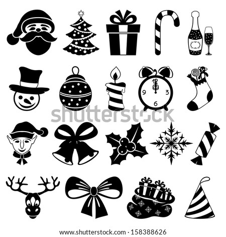 Vector. Christmas set. - stock vector