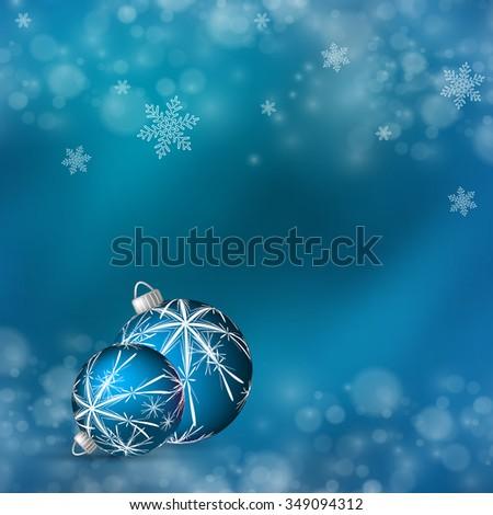 vector Christmas shining greeting card design. Eps10 - stock vector