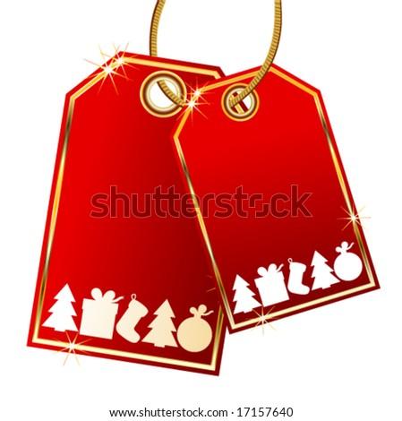 Vector christmas tags - stock vector