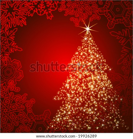 Vector Christmas tree - stock vector