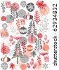 vector -christmas wallpaper - stock vector