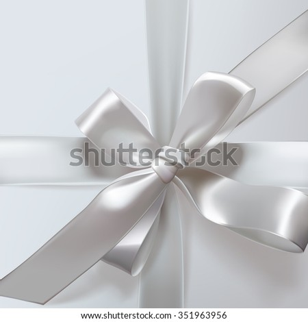 Vector Christmas white gift box.  - stock vector
