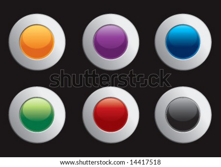 Vector chrome colorful internet icons