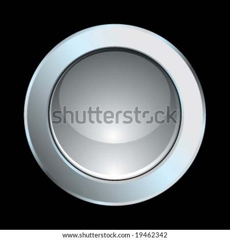 Vector chrome glossy internet icon - stock vector