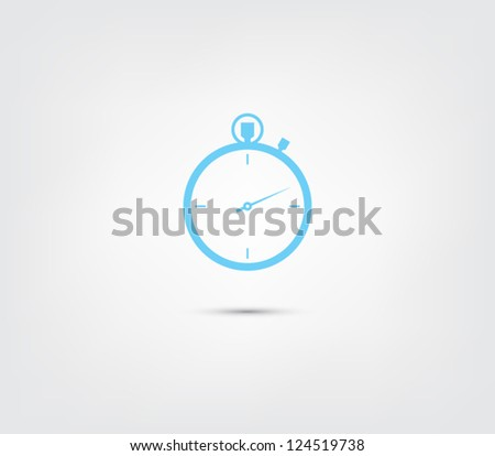 Vector chronometer icon / button for websites (UI) or applications (app) for smartphones or tablets. Pictogram