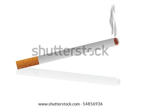 Vector Cigarette isolated on white