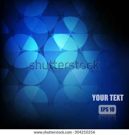 Vector : Circle and triangle abstract background