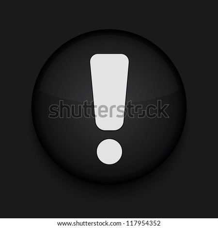 Vector circle app icon on black background. Eps10 - stock vector