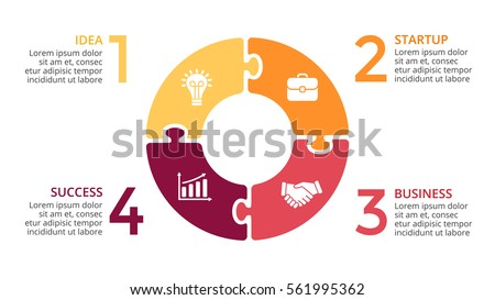 vector circle arrows infographic cycle diagram stock vector rh shutterstock com