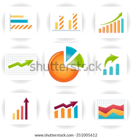 Vector circle arrows infographics set. It can be used for your design. Template for cycle triangle diagram, graph, presentation and round chart. Business concept, parts, steps or processes.