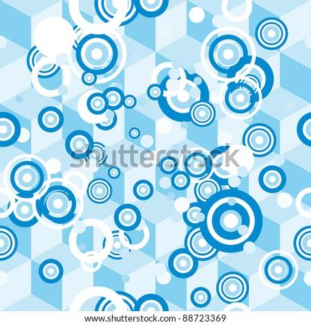 Vector circle background - stock vector