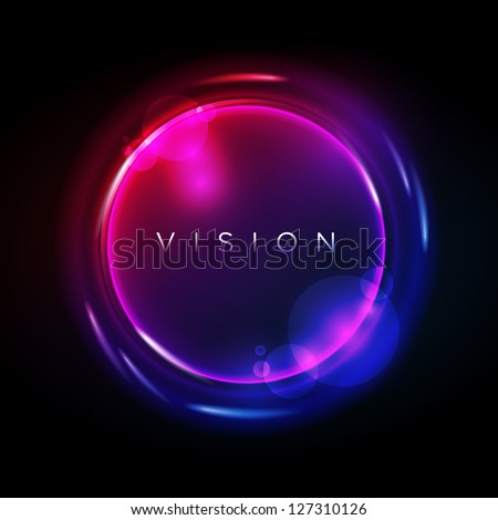 Vector Circle Border. Elements are layered separately in vector file. Editable vector EPS10 file. - stock vector