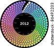 Vector circle calendar 2012 - stock vector