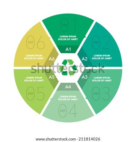 Vector circle diagram info graphic - stock vector