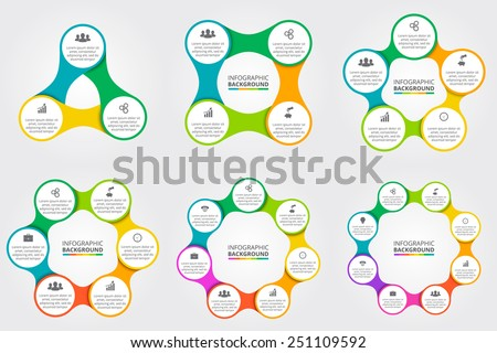 Vector circle for infographic. Template for cycling diagram, graph, presentation and round chart. Business concept with 3, 4, 5, 6, 7, 8 options, parts, steps or processes. - stock vector