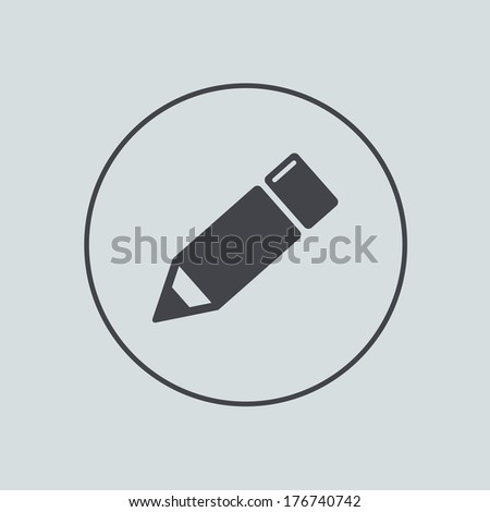 Vector circle icon on gray background. Eps 10 - stock vector