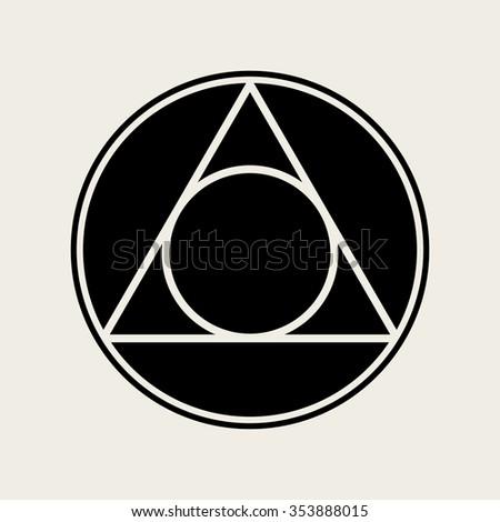 Vector Circle Triangle Symbol Illustration Stock Vector 353888015