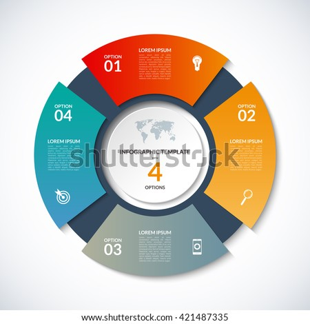 Vector circle template infographics business concept stock vector vector circle template infographics business concept stock vector 421487335 shutterstock cheaphphosting Gallery