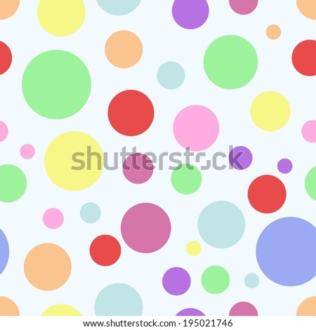 Vector circles abstract seamless pattern background - stock vector