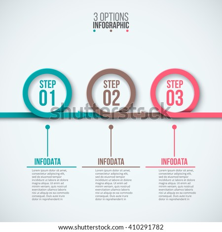 Vector circles for infographic. Template for diagram, graph, presentation and chart. Business concept with 3 options, parts, steps or processes. Abstract background. - stock vector