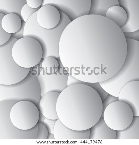 Vector circles, minimal objects, abstract vector design composition