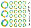 Vector circles with arrows - stock vector