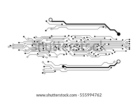 Vector Circuit Board Pattern Background Technology Stock Photo ...