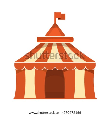 Vector: Circus Tent Icon. - stock vector