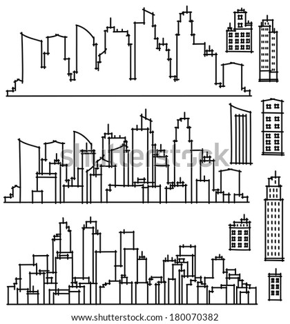 Vector city and elements for design. - stock vector