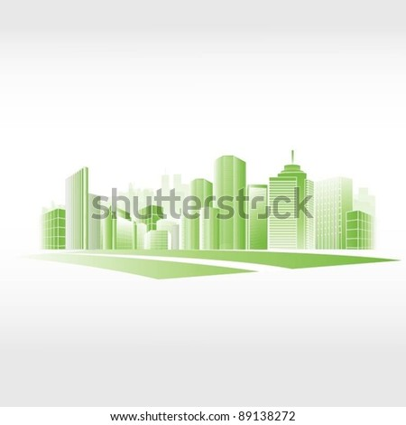 vector city background - stock vector