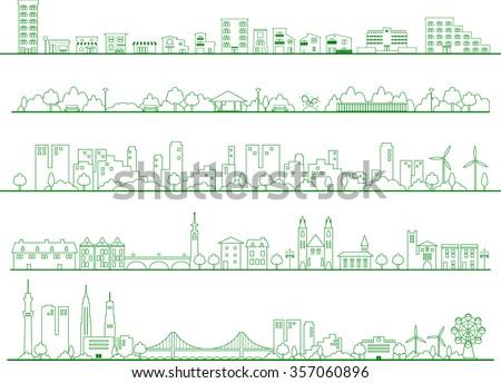 Vector city illustration - stock vector