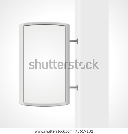 Vector city light billboard on column with empty space for your message or illustration. Vector illustration Eps 10. - stock vector