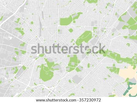 vector city map of Athens, Greece - stock vector