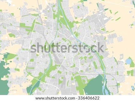 Vector City Map Augsburg Germany Stock Vector 336406622 Shutterstock