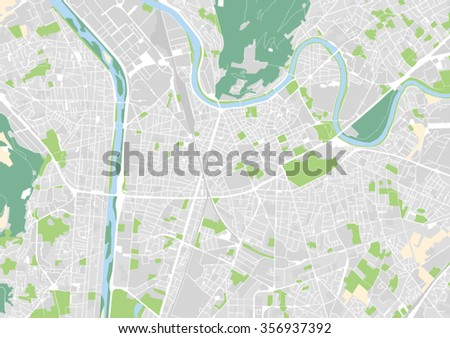 Vector City Map Grenoble France Stock Vector 2018 356937392
