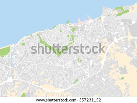 vector city map of Heraklion, Greece - stock vector