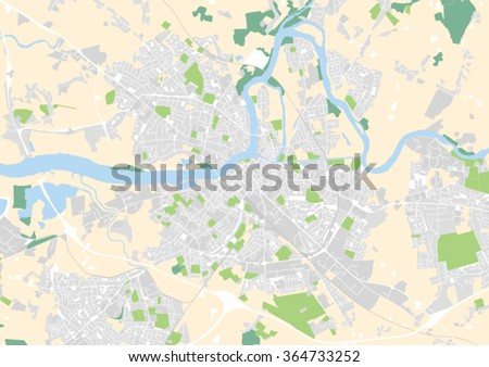 Vector City Map Limerick Ireland Stock Vector 364733252 Shutterstock