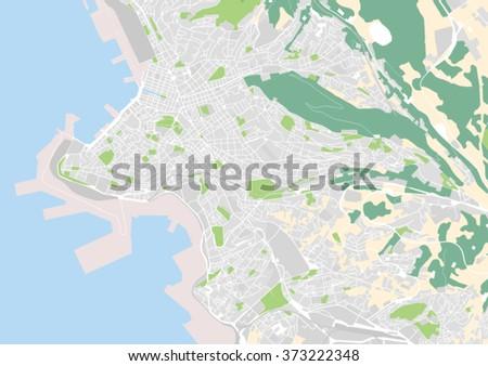 Vector City Map Trieste Italy Stock Vector 373222348 Shutterstock