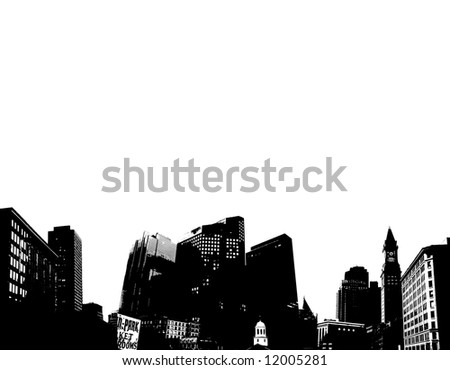 Vector city with background space for text