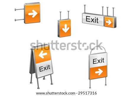 Vector citylight stands - stock vector
