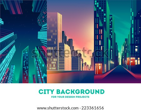 Vector cityscape background - stock vector