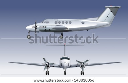 Vector Civil Utility Aircraft - stock vector