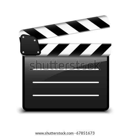 Vector clap board - stock vector