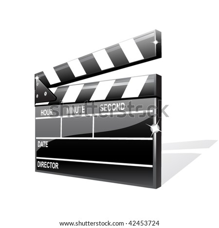 Vector clapper board - stock vector