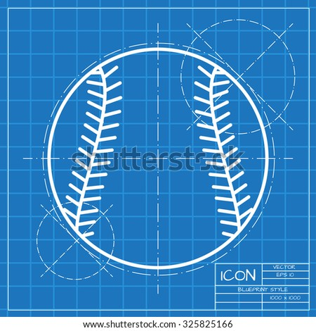 Vector blueprint baseball bat icon on vectores en stock 316962725 vector classic blueprint of baseball icon on engineer and architect background malvernweather Image collections