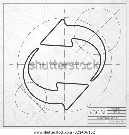 Vector blueprint spaceship logo vectores en stock 244668289 vector classic blueprint of circle round arrows for business diagram on engineer and architect background malvernweather Gallery